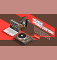music industry background vector image