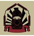 ninja head vector image