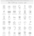 office ultra modern outline line icons for vector image vector image