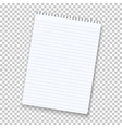 Photorealistic Notepad Isolated on vector image vector image