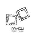 ravioli pasta outline icon vector image