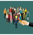 Recruitment or selection concept vector image