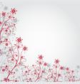 Red grunge flower vector image