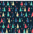 retro triangles pattern vector image vector image