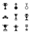 Rewarding icons set simple style vector image vector image