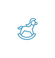 rocking horse linear icon concept rocking horse vector image vector image