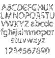 rough alphabet vector image vector image