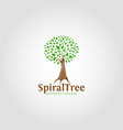 spiral tree - nature logo template vector image