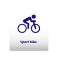 sport bike sport symbol stickman solid icon vector image