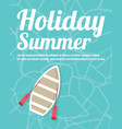 summer beach party flyer with typographic vector image