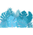 summer paper cut tropical palm leaves decor vector image vector image