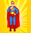 superman boy in super hero costume power kid vector image