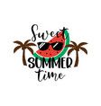 sweet summer time lettering design typography vector image
