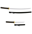 Tanto and katana sword vector image vector image