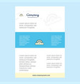 template layout for cutter comany profile annual vector image vector image