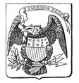 the great seal of the united states 1782 vintage vector image vector image