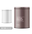 white yogurt pot template with sample design vector image