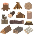 Wood materials logs vector image vector image