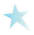 isolated comic star vector image