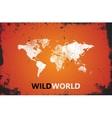 World Map Wild world poster Grunge vector image