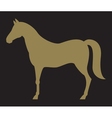 2098 horse silhouette vector image