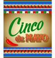 Cinco De Mayo hand drawn lettering design vector image