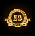 50 years anniversary celebration logotype vector image vector image