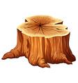 A big tree stump vector image vector image