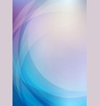 abstract curved blue background vector image vector image