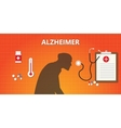 alzheimer old people with medicine vector image