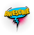 awesome comic book text pop art