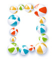 beach balls isolated vector image vector image
