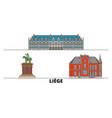 belgium liege flat landmarks vector image vector image
