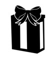 black icon christmas gift cartoon vector image vector image
