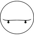 black skateboard flat silhouette design vector image vector image