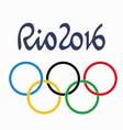 brazil summer games 2016 rio de janeiro han vector image