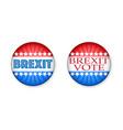 brexit vote symbols color set vector image vector image