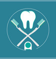 brush teeth flat design vector image