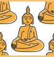 buddha gold statue seamless pattern thailand vector image