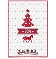 Christmas greeting card with symbols of the coming vector image vector image