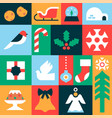 christmas seamless pattern geometric icon mosaic vector image