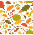 colorful seamless pattern with oak leaves vector image