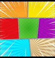 comic book explosive background vector image vector image