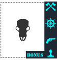 cow skull icon flat vector image vector image
