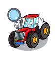 detective tractor character cartoon style vector image vector image