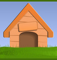 dog house concept background vector image