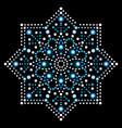 dot art snowflake - christmas pattern vector image vector image
