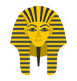 egyptian golden pharaohs mask icon isolated vector image vector image
