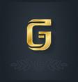 elegant gold font Letter G Template for company vector image vector image