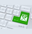 email symbol on white computer keyboard vector image vector image